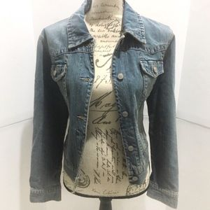 Sonoma Washed Out Cropped Jean Jacket Size Large